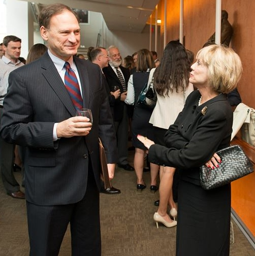 Justice Sam Alito with Kat Shepherd