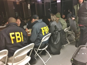 Eating with the crew of Homeland